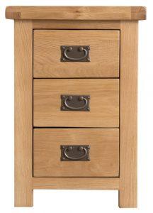 Chester Oak Large 3 Drawer Bedside