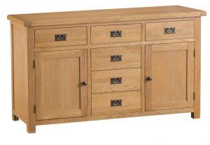 Chester Oak 2 Door 6 Drawer Sideboard