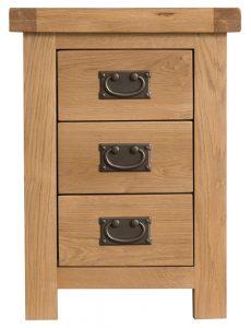 Chester Oak 3 Drawer Bedside