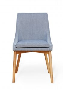 Grey Fabric Dining Chair (Pack of two)
