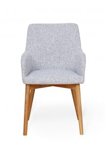 Light Grey Fabric Dining Chair (Pack of two)