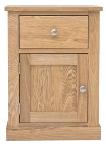 Baumhaus Mobel Oak One Door one Drawer Lamp Table