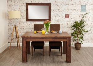 Baumhaus Mayan Walnut Extending Dining Table
