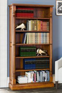 La Reine Mahogany Tall Open Bookcase