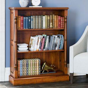 La Reine Mahogany Low Open Bookcase
