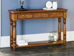 La Reine Mahogany Console/Hall Table (with drawers)