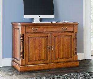 La Reine Mahogany Hidden Home Office Desk