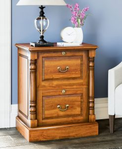 La Reine Mahogany Two Drawer Filing Cabinet
