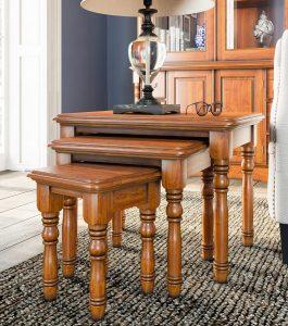 La Reine Mahogany Nest of Three Tables