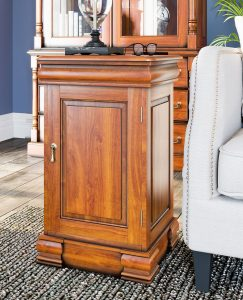 La Reine Mahogany Lamp Table / Bedside Cabinet
