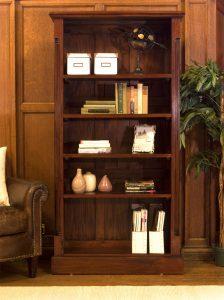 La Roque Mahogany Tall Open Bookcase