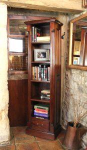 La Roque Mahogany Narrow Alcove Bookcase