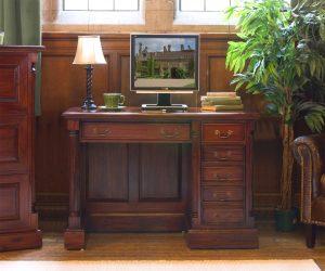 La Roque Mahogany Single Pedestal Computer Desk