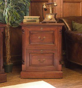 La Roque Mahogany Two Drawer Filing Cabinet