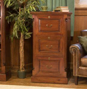 La Roque Mahogany Three Drawer Filing Cabinet