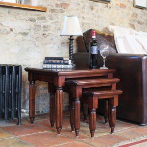 La Roque Mahogany Nest of Tables