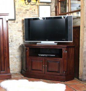 La Roque Mahogany Corner Television Cabinet