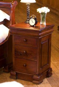 La Roque Mahogany 4 Drawer Lamp Table