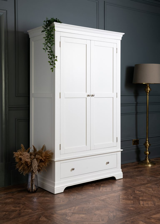 Windsor Painted White Double Wardrobe