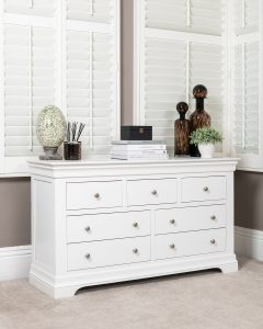 Windsor Painted White 3 Over 4 Chest | Fully Assembled