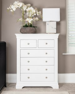 Windsor Painted White 2 Over 4 Chest | Fully Assembled