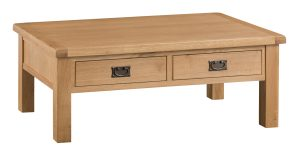 Chester Oak Large Coffee Table with Drawers