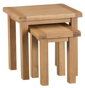 Chester Oak Nest of 2 Tables