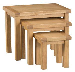 Chester Oak Nest of 3 Tables