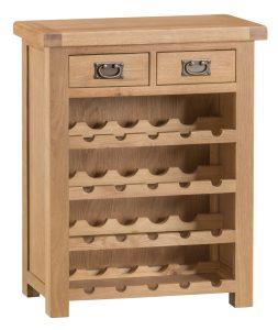 Chester Oak Small Wine Rack