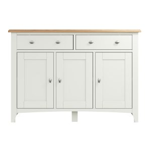 Lincoln Painted White 3 Door Sideboard