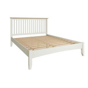 Lincoln Painted White 5′ King Size Bed