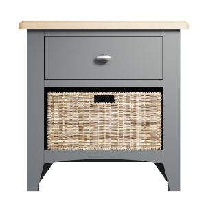 Lincoln Painted Grey 1 Drawer 1 Basket Unit
