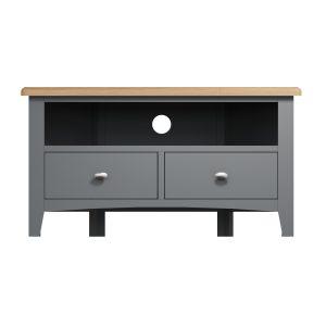 Lincoln Painted Grey Corner TV Unit