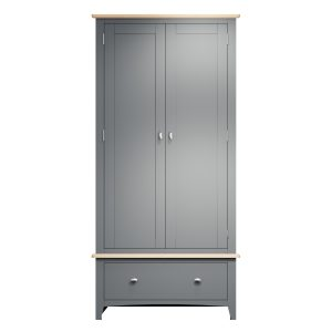 Lincoln Painted Grey Gents Wardrobe