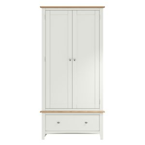 Lincoln Painted White Gents Wardrobe