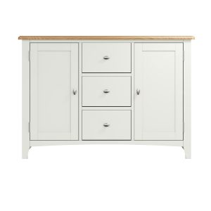 Lincoln Painted White Large Sideboard