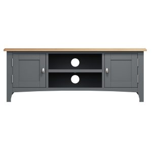 Lincoln Painted Grey Large TV Unit