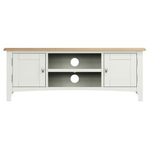 Lincoln Painted White Large TV Unit