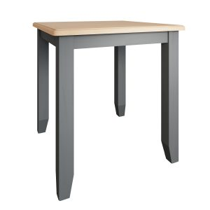 Lincoln Painted Grey Fixed Top Dining Table