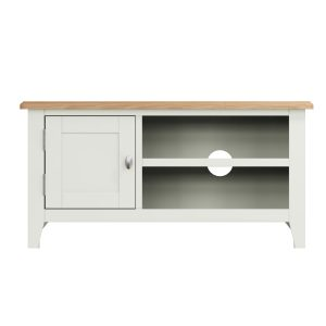 Lincoln Painted White TV Unit