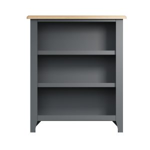 Lincoln Painted Grey Small Wide Bookcase
