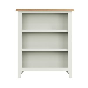 Lincoln Painted White Small Wide Bookcase