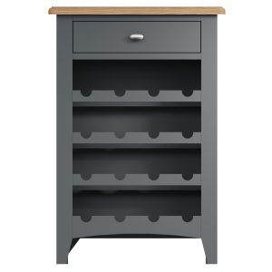Lincoln Painted Grey Wine Cabinet