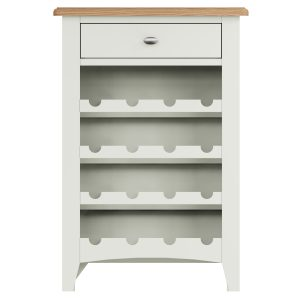 Lincoln Painted White Wine Cabinet